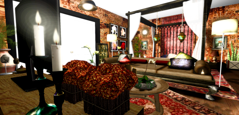 The Crazy, Wild and Exotic Asian inspired bedroom BURSTING with colour!