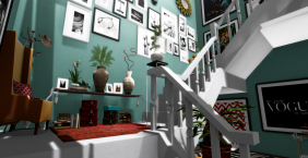 Selective Colours used in the main entrance of the apartment and staircase.