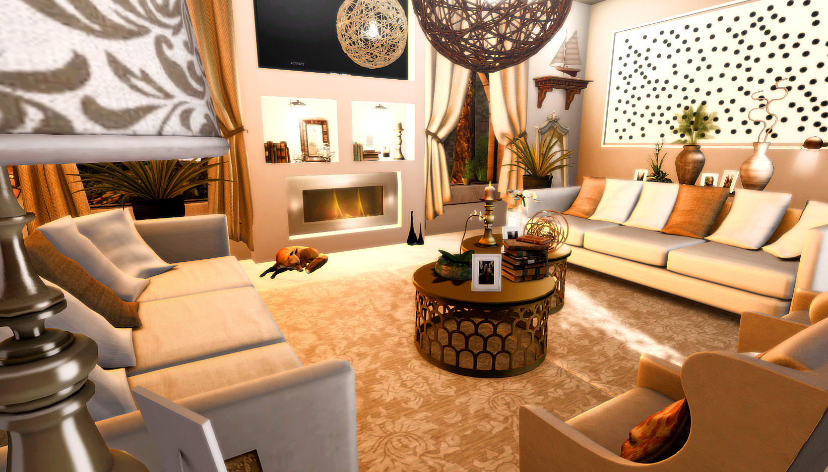 A Golden Glow In The Living Room Love To Decorate - Golden living room